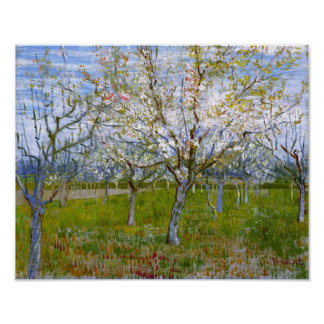 Pink Orchard (F555) Van Gogh Fine Art Poster