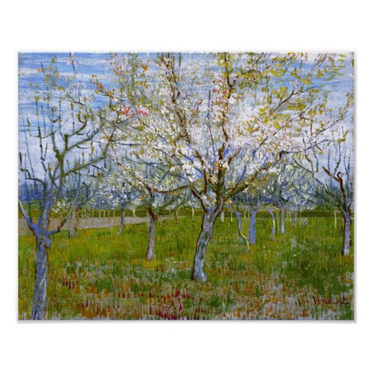 Pink Orchard (F555) Van Gogh Fine Art Poster