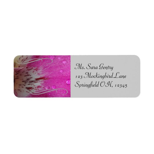 Pink Orchid Address Label