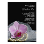 Pink Orchid and Pearls Bridal Shower Invite