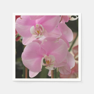Pink Orchid blooms Paper Napkin