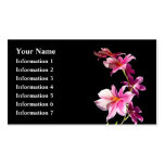 Pink Orchid. Double-Sided Standard Business Cards (Pack Of 100)