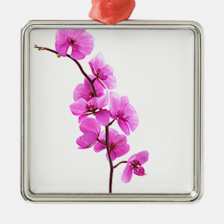 """Pink orchid"" Christmas Ornament"