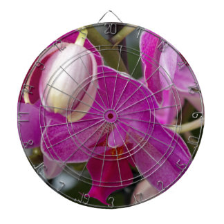 pink orchid dartboard