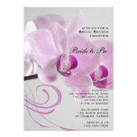 Pink Orchid Elegance Bridal Shower Invitation