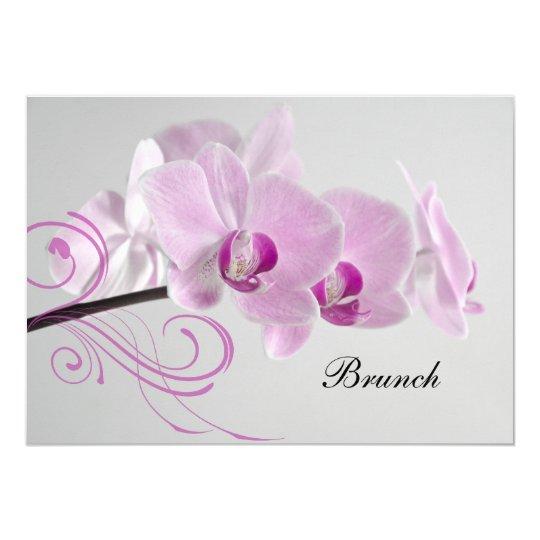 Pink Orchid Elegance Post Wedding Brunch Invite