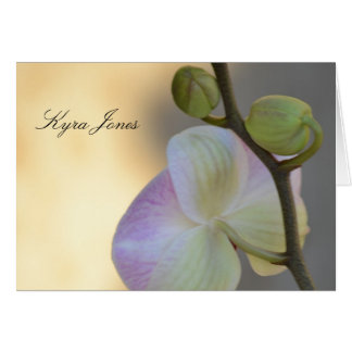 Pink Orchid Expression Name Place Card