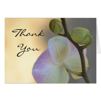 Pink Orchid Expression Thank You Card