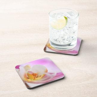 Pink Orchid Flower Cork Coaster