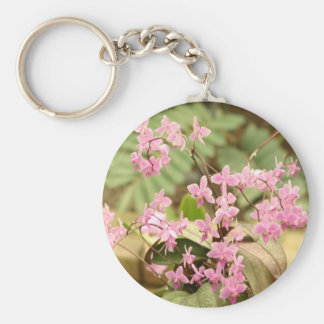 Pink orchid key ring
