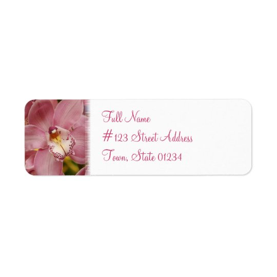 Pink Orchid Mailing Label Return Address Label
