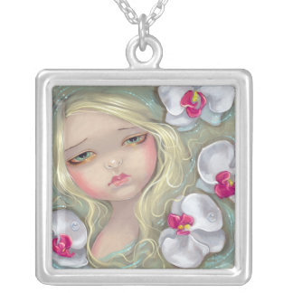 Pink Orchid Nymph NECKLACE flower fairy