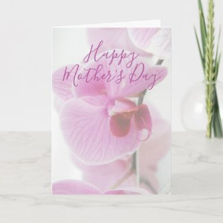 Pink Orchid | Personalised Happy Mother's Day Card
