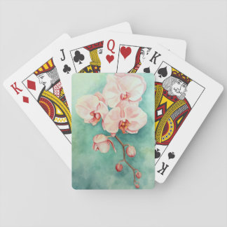 Pink Orchid Playing Cards
