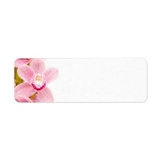 Pink Orchid Return Address Label
