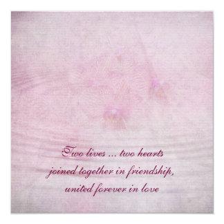 Pink Orchid Ripple 13 Cm X 13 Cm Square Invitation Card