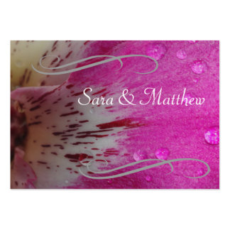 Pink Orchid Save the Date Pack Of Chubby Business Cards