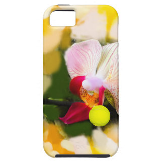 Pink orchid with tennis ball iPhone 5 cases