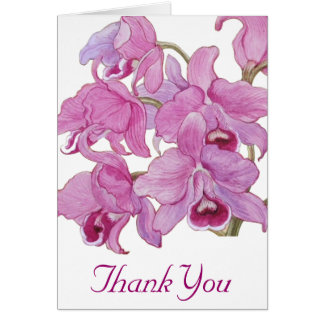 Pink Orchids Card