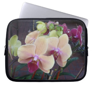 Pink Orchids Computer Sleeve