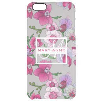 Pink Orchids In Bloom | Add Your Name iPhone 6 Plus Case