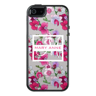 Pink Orchids In Bloom | Add Your Name OtterBox iPhone 5/5s/SE Case