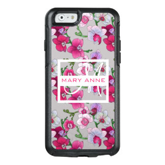 Pink Orchids In Bloom   Add Your Name OtterBox iPhone 6/6s Case