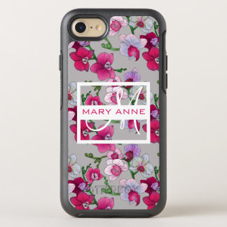 Pink Orchids In Bloom   Add Your Name OtterBox Symmetry iPhone 7 Case