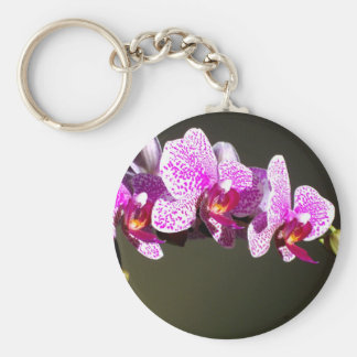 Pink Orchids Key Ring