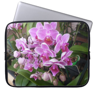 Pink Orchids Laptop Sleeves