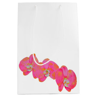 Pink Orchids Medium Gift Bag