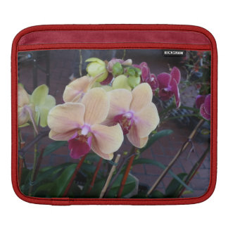 Pink Orchids Sleeve For iPads