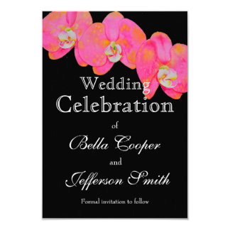 Pink Orchids - wedding invitation