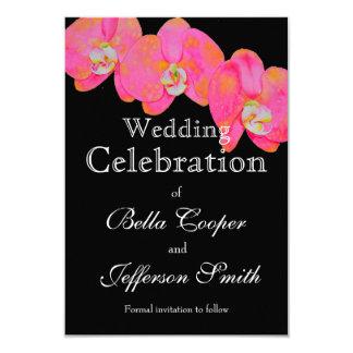 Pink Orchids - wedding invitation