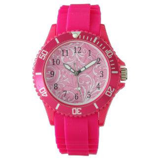 Pink Ornamental Watch