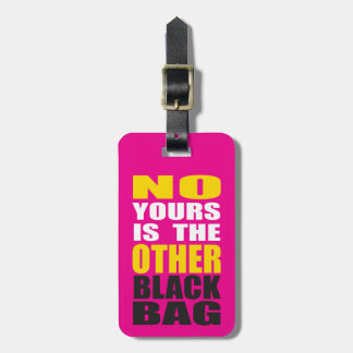 Pink Other Black Bag Luggage Tag