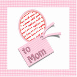 Pink Oval Photo Frame For Mum