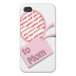 Pink Oval Photo Frame For Mum Case For The iPhone 4