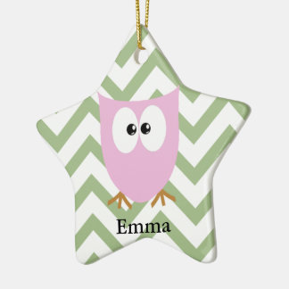 Pink Owl Baby Girl Christmas Ornament