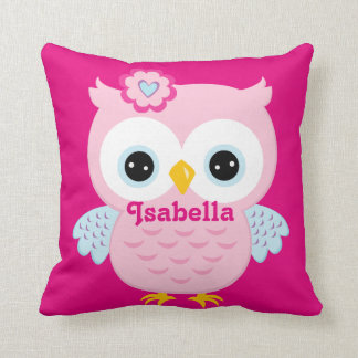 Pink Owl Baby Keepsake Cushion