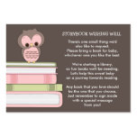 Pink Owl Baby Shower Book Insert Request Card Pack Of Chubby Business Cards