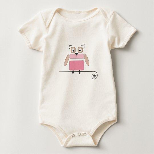 Pink Owl Baby Suit Baby Bodysuit