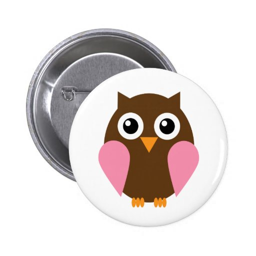 Pink Owl Buttons