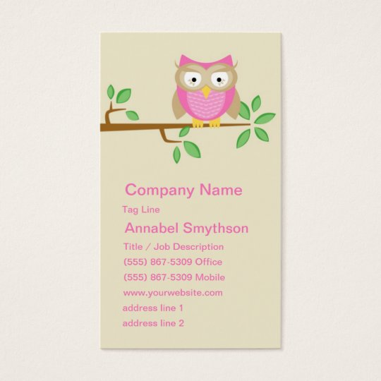 Pink Owl Business Card