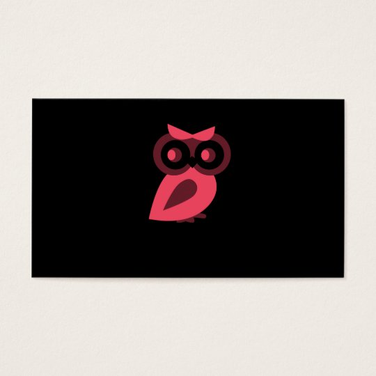 Pink Owl business cards