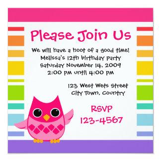 Pink Owl Card