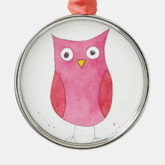 Pink Owl Christmas Ornament