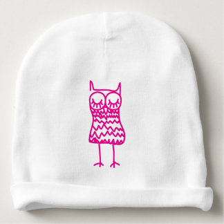 Pink Owl Cotton Baby Beanie Hat