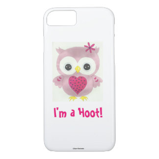 Pink Owl I'm a Hoot iPhone Case