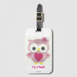 Pink Owl I'm a Hoot Luggage Tag